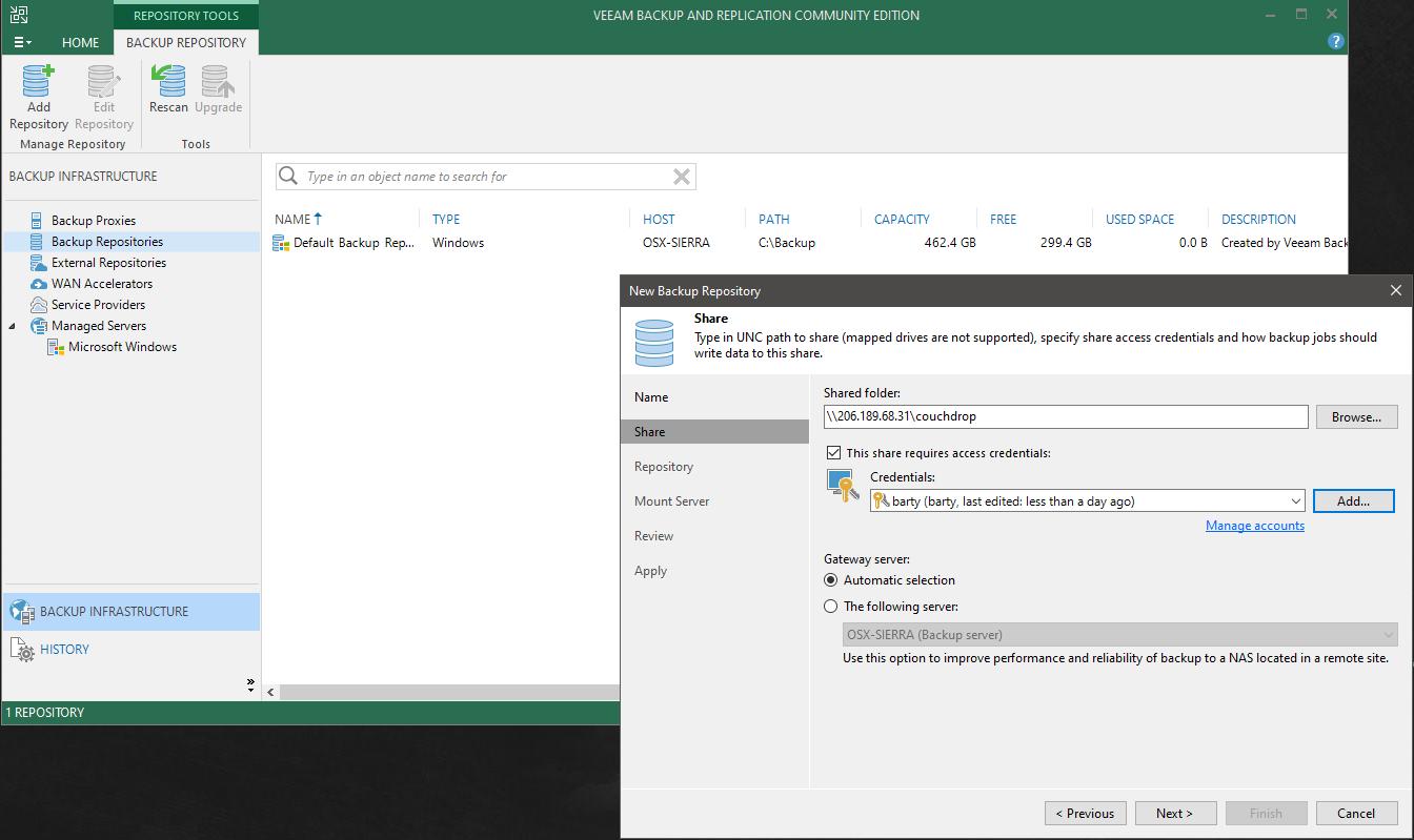 configuring Veeam for Backblaze, Wasabi, Azure
